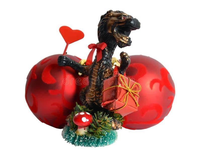 Download φέρον δώρο δράκων Χριστου&gam Στοκ Εικόνες - εικόνα από έτος, χαρά: 17056398