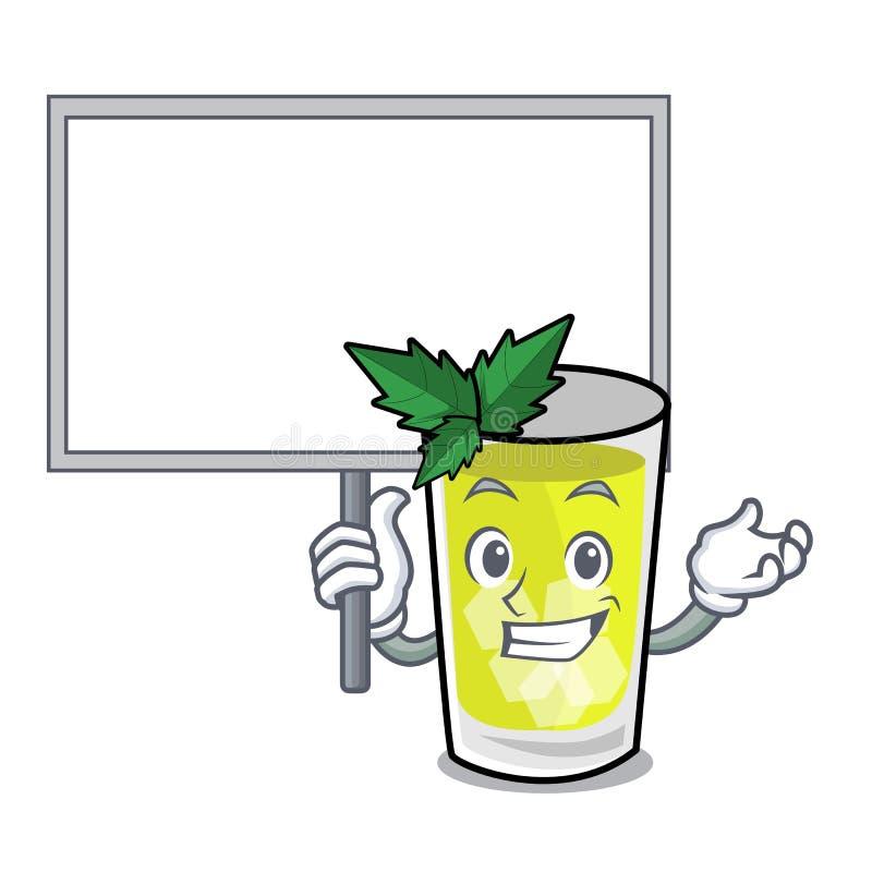 Φέρτε τα κινούμενα σχέδια χαρακτήρα σαλέπι μεντών πινάκων ελεύθερη απεικόνιση δικαιώματος