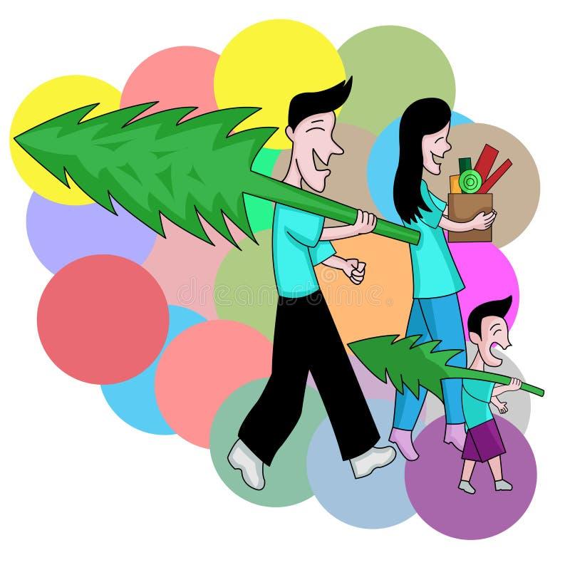 Φέρτε το σπίτι Χριστουγέννων απεικόνιση αποθεμάτων