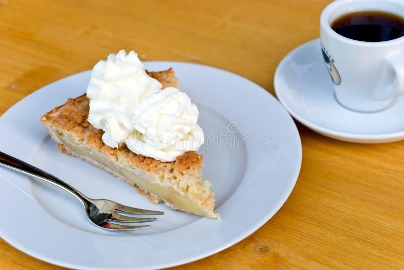φέτα καφέ κέικ μήλων στοκ φωτογραφία με δικαίωμα ελεύθερης χρήσης