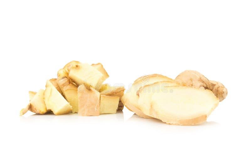 Φέτα πιπεροριζών που απομονώνεται στο άσπρο υπόβαθρο στοκ εικόνες