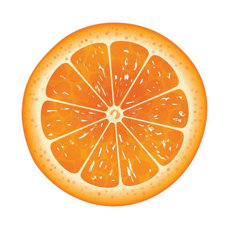 Φέτα που απομονώνεται πορτοκαλιά στο υπόβαθρο ελεύθερη απεικόνιση δικαιώματος