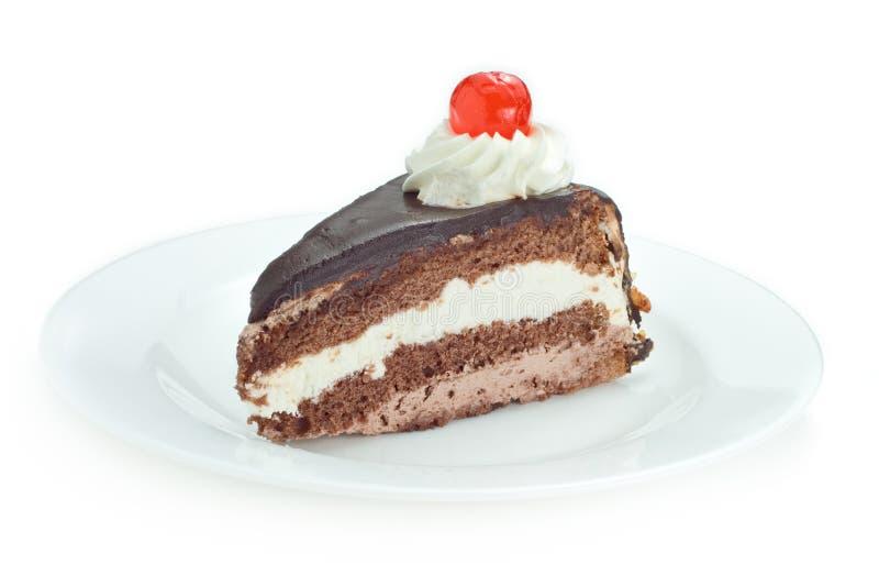 φέτα σοκολάτας κέικ στοκ εικόνες