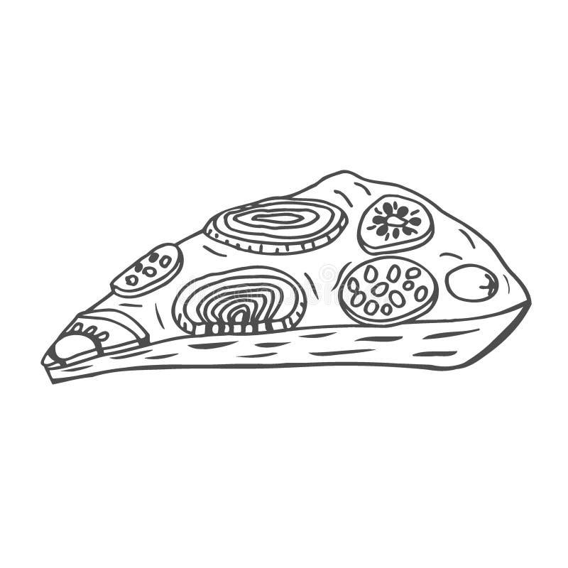 Φέτα της πίτσας απεικόνιση αποθεμάτων