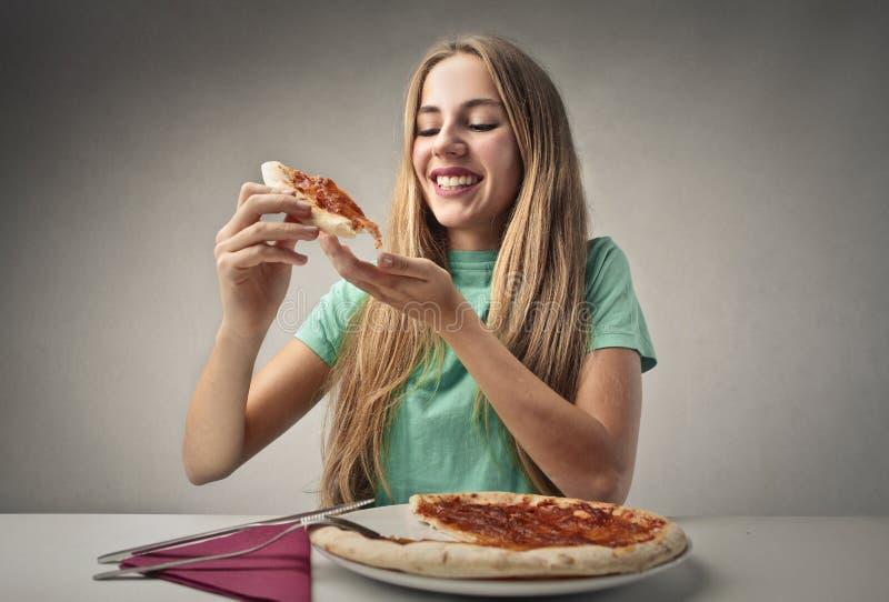Φέτα της πίτσας στοκ φωτογραφία με δικαίωμα ελεύθερης χρήσης