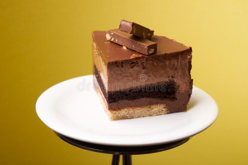 Φέτα του κέικ σφουγγαριών Roshen στοκ φωτογραφία με δικαίωμα ελεύθερης χρήσης