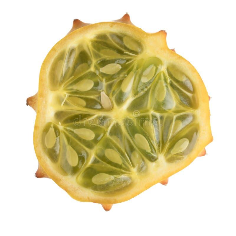 Φέτα φρούτων Kiwano που απομονώνεται στοκ εικόνα με δικαίωμα ελεύθερης χρήσης