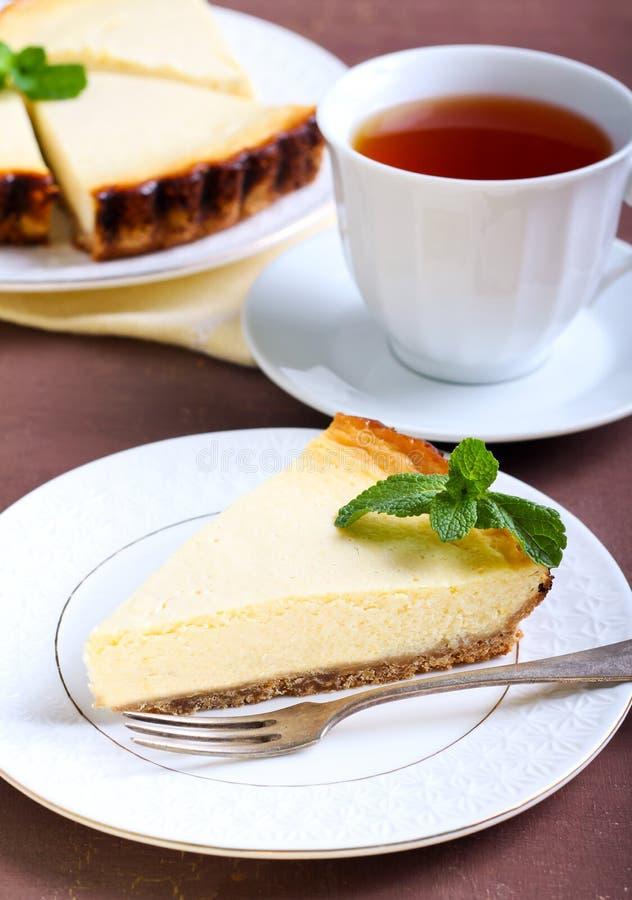 φέτα cheesecake λεμονιών στοκ φωτογραφίες