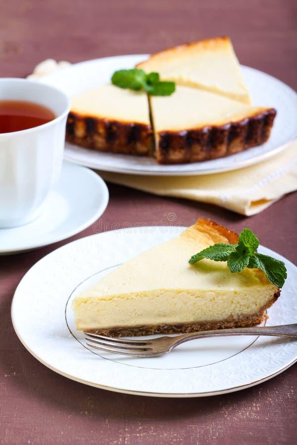 φέτα cheesecake λεμονιών στοκ φωτογραφία