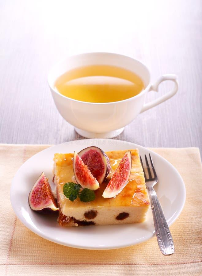 Φέτα cheesecake με τη σταφίδα στοκ εικόνες