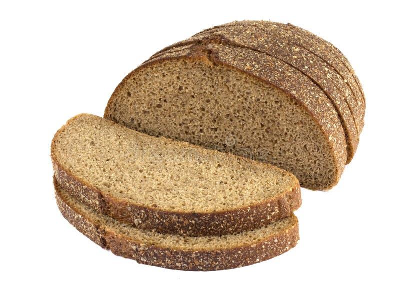 Φέτες από ψωμί σίκαλης, απομονωμένες σε λευκό φόντο στοκ φωτογραφία με δικαίωμα ελεύθερης χρήσης