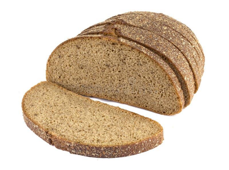Φέτες από ψωμί σίκαλης, απομονωμένες σε λευκό φόντο στοκ εικόνες με δικαίωμα ελεύθερης χρήσης