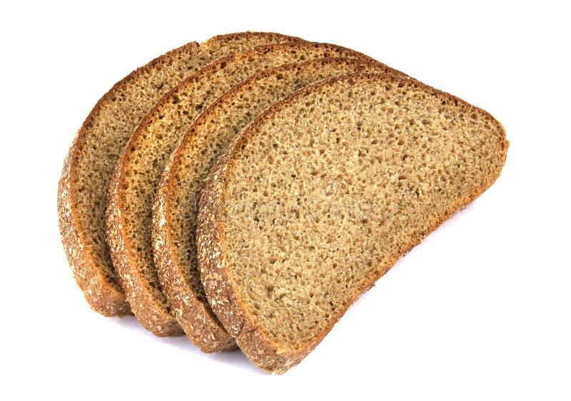 Φέτες από ψωμί σίκαλης, απομονωμένες σε λευκό φόντο στοκ εικόνα με δικαίωμα ελεύθερης χρήσης