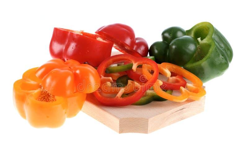 Download φέτες πιπεριών στοκ εικόνες. εικόνα από οργανικός, ξύλινος - 17054034