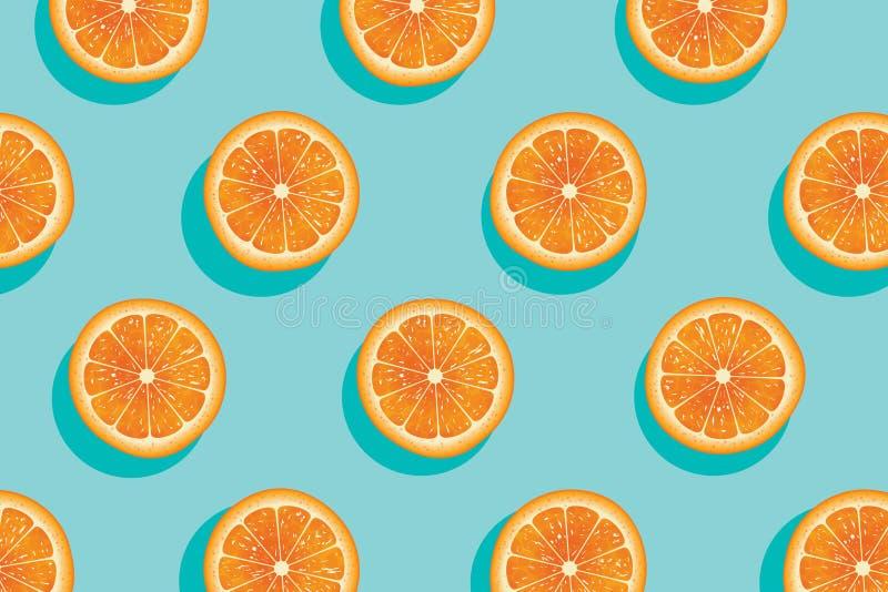 Φέτες του πορτοκαλιού θερινού υποβάθρου διανυσματική απεικόνιση
