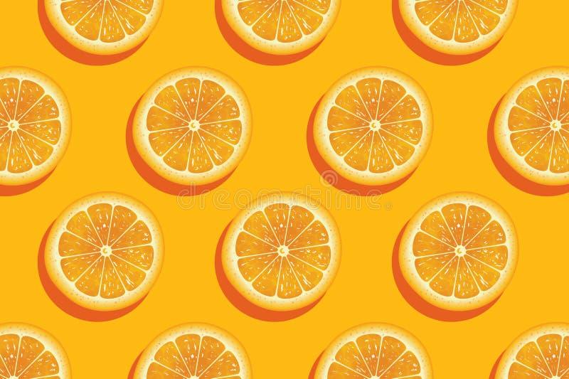 Φέτες του φρέσκου πορτοκαλιού θερινού υποβάθρου απεικόνιση αποθεμάτων