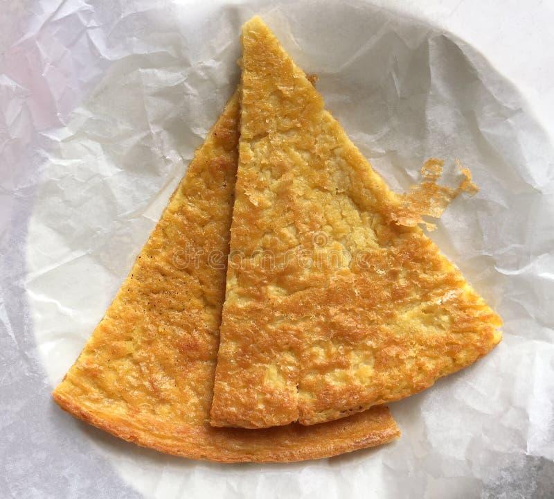 Φέτες των από τη Λιγουρία τροφίμων farinata στοκ φωτογραφία με δικαίωμα ελεύθερης χρήσης