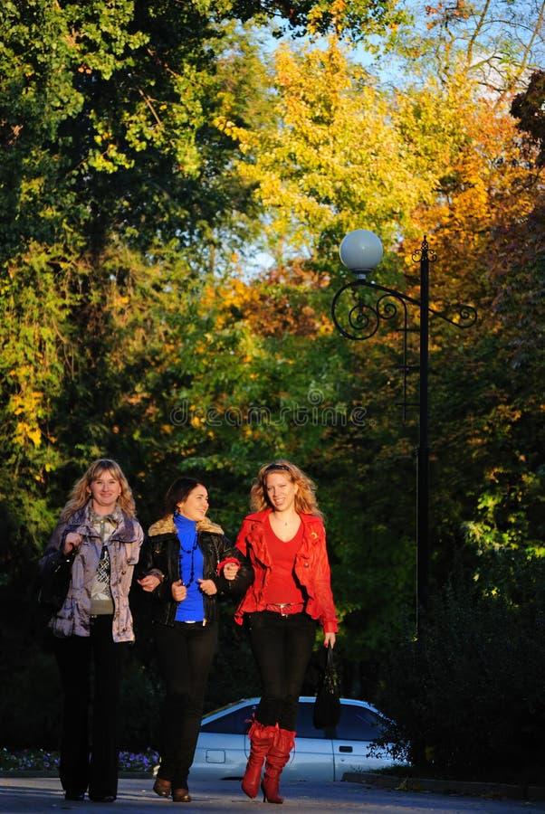 φίλες τρία στοκ φωτογραφία