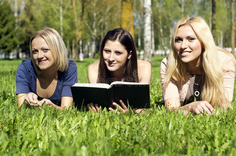 φίλοι βιβλίων που διαβάζονται στοκ εικόνες
