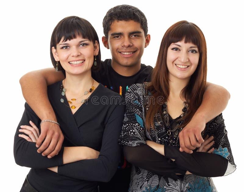 φίλοι τρία στοκ φωτογραφίες
