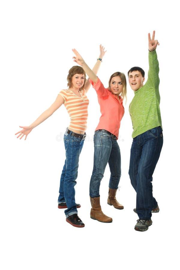 φίλοι χαρούμενοι στοκ εικόνα