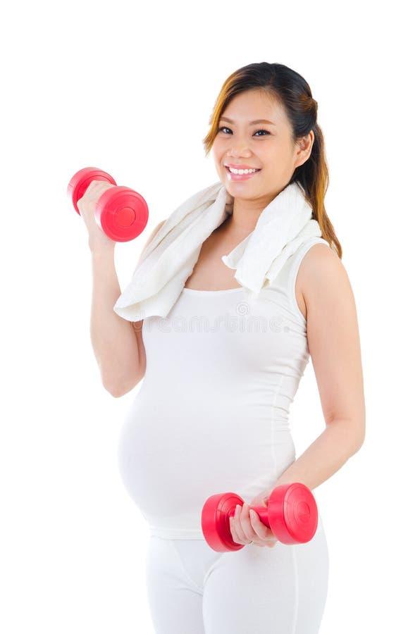 Φίλαθλη έγκυος γυναίκα στοκ εικόνες