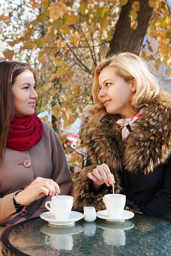 Φίλες και καφές στοκ εικόνα