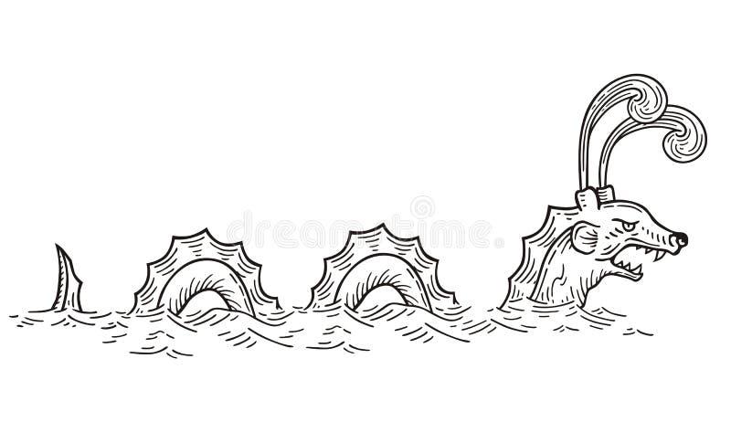 Φίδι θάλασσας ελεύθερη απεικόνιση δικαιώματος