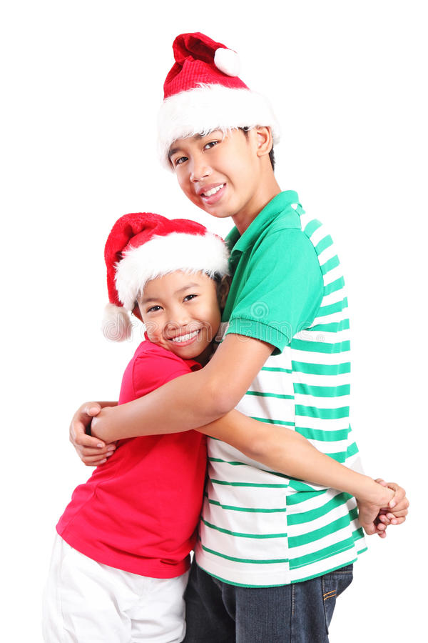 Φίλοι στα Χριστούγεννα στοκ εικόνα