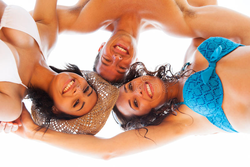 Φίλοι στις διακοπές στοκ εικόνα με δικαίωμα ελεύθερης χρήσης