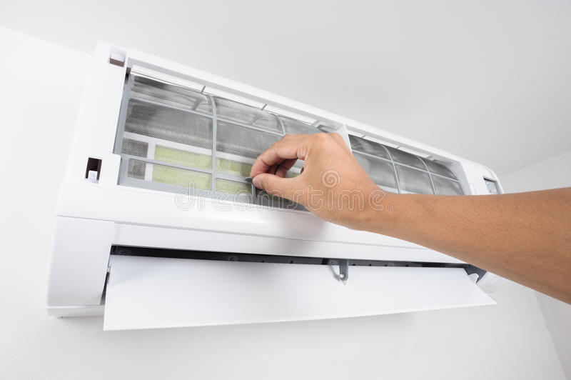 Φίλτρο κλιματιστικών μηχανημάτων στοκ εικόνα
