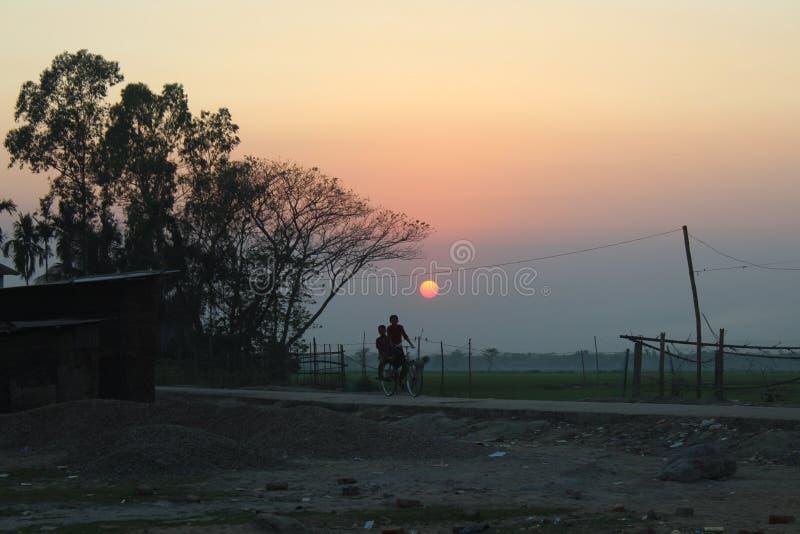 φαίνεται ηλιοβασίλεμα στοκ φωτογραφίες