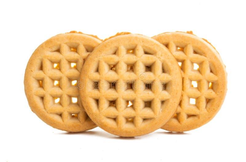 Φαγητό μπισκότων που απομονώνεται στοκ εικόνες