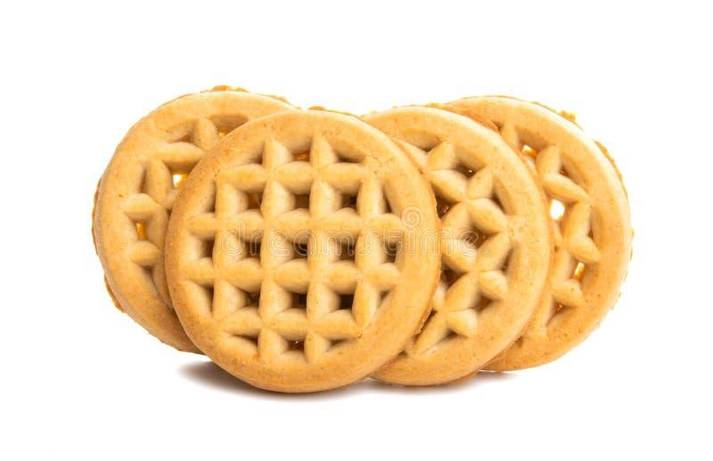 Φαγητό μπισκότων που απομονώνεται στοκ φωτογραφία