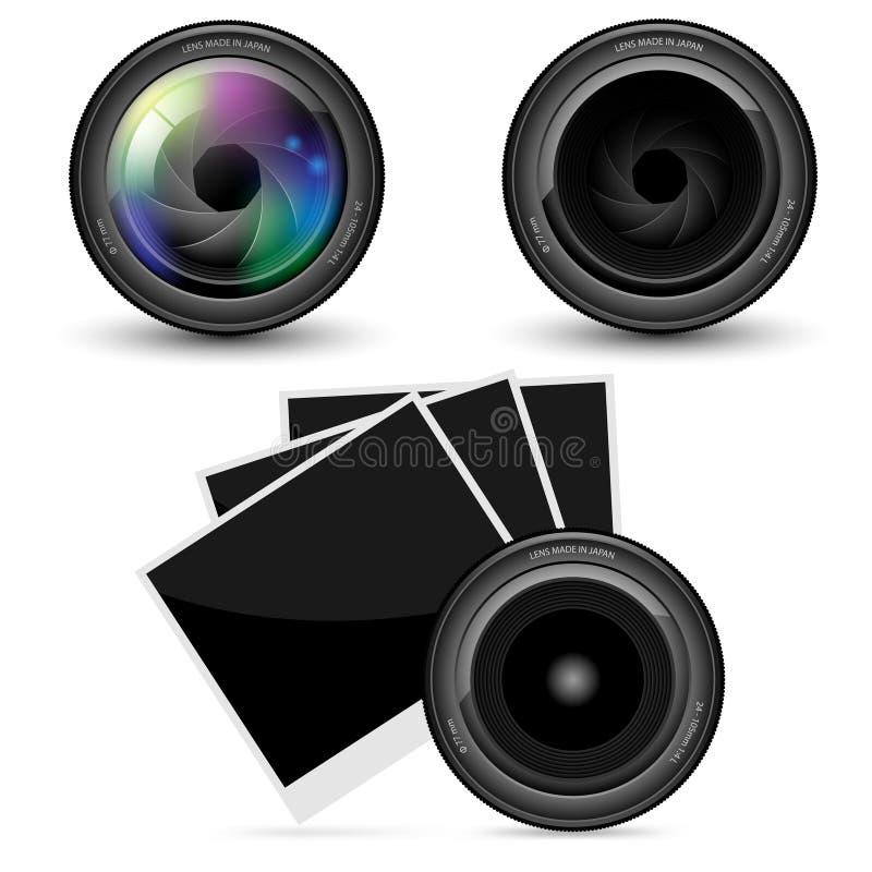 Φακός φωτογραφικών μηχανών διανυσματική απεικόνιση