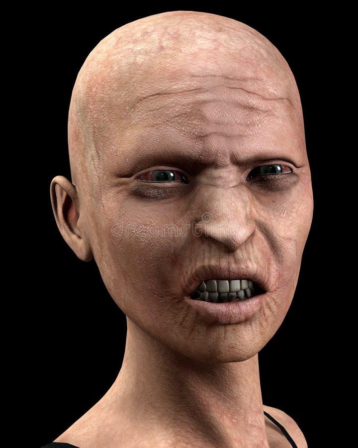 Φαλακρές γυναίκες Zombie ελεύθερη απεικόνιση δικαιώματος