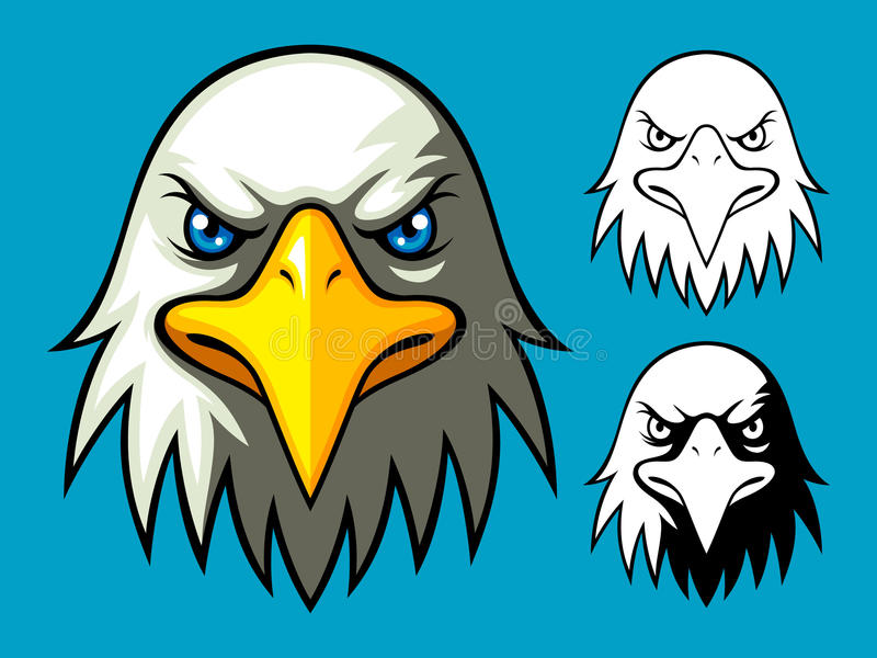 φαλακρό κεφάλι αετών διανυσματική απεικόνιση