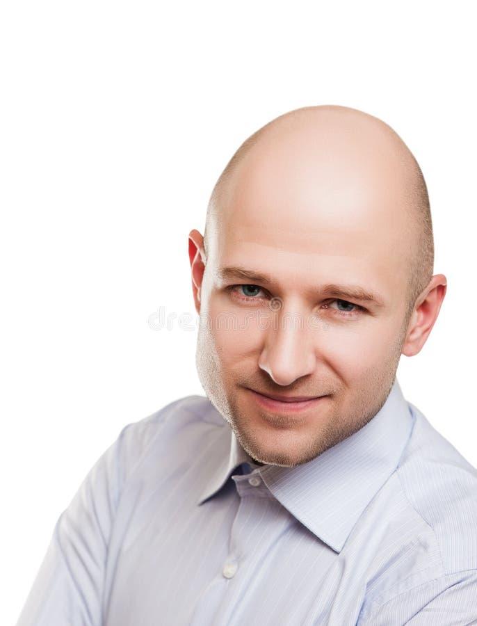 Φαλακρό πορτρέτο ατόμων στοκ εικόνες