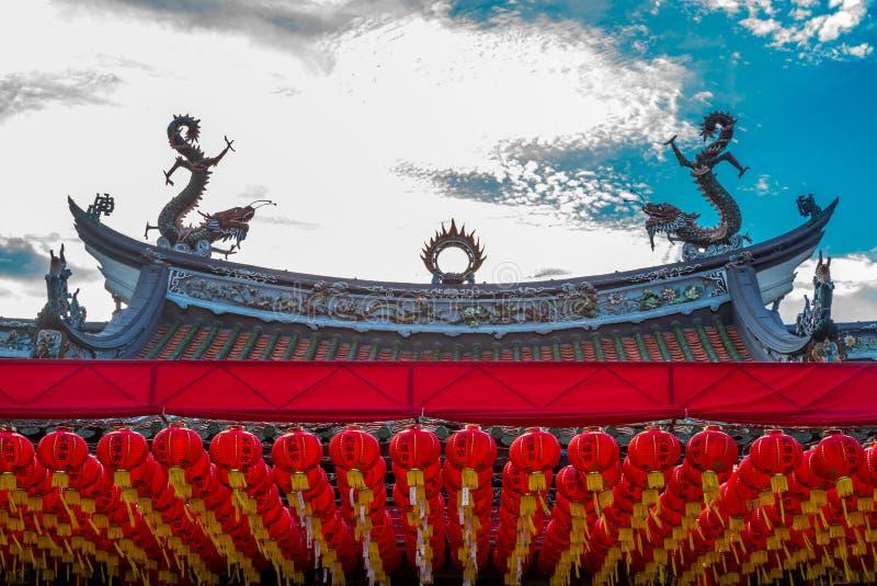 Φανάρια στο Hock Thian ναό Keng στη Σιγκαπούρη - 1 στοκ φωτογραφία