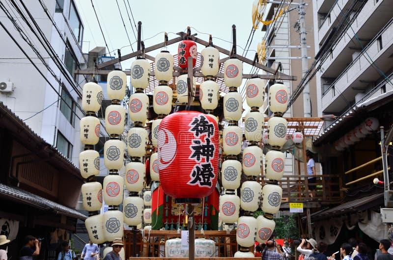 Φανάρια του φεστιβάλ Gion, Κιότο Ιαπωνία στοκ φωτογραφίες
