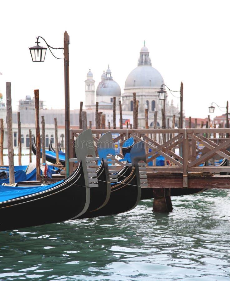 φανάρι Βενετία γονδολών β&al στοκ φωτογραφίες