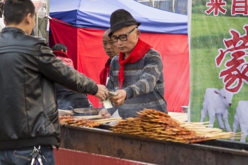 Φανάρι καταστημάτων πρόχειρων φαγητών το 2016 fesival, chengdu, Κίνα στοκ εικόνες με δικαίωμα ελεύθερης χρήσης