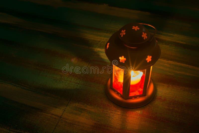 Φανάρι με ένα κερί glare στοκ φωτογραφία με δικαίωμα ελεύθερης χρήσης