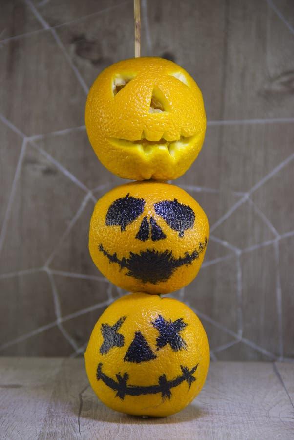 Φανάρι του Jack για αποκριές των πορτοκαλιών στοκ εικόνες