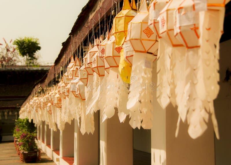 Φανάρι Lanna σε Wat Phra που Chae Haeng, γιαγιά Ταϊλάνδη στοκ φωτογραφία με δικαίωμα ελεύθερης χρήσης