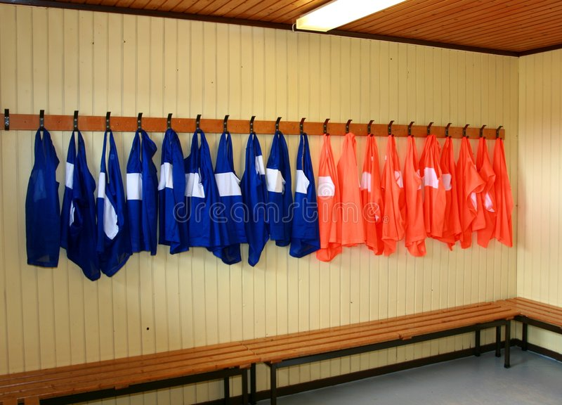 φανέλλες ποδοσφαίρου πρακτικής στοκ φωτογραφία
