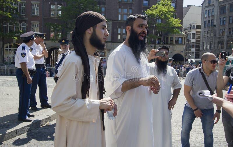 φανατικοί οπαδοί μουσουλμάνος στοκ εικόνες με δικαίωμα ελεύθερης χρήσης