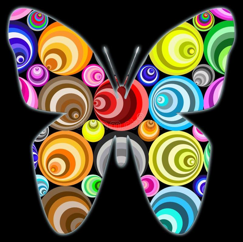 φαντασία κύκλων πεταλούδ& ελεύθερη απεικόνιση δικαιώματος