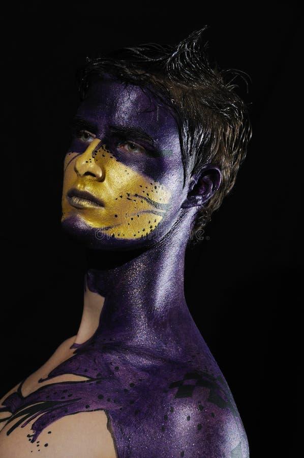 φαντασία προσώπου που χρ&ome στοκ φωτογραφίες με δικαίωμα ελεύθερης χρήσης