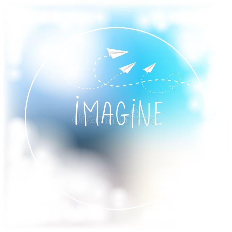 Φανταστείτε τη δημιουργική έννοια ελεύθερη απεικόνιση δικαιώματος